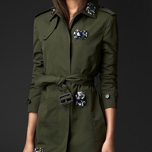 Burberry Jackets & Blazers - Burberry Prorsum Embellished Trench Made in Italy